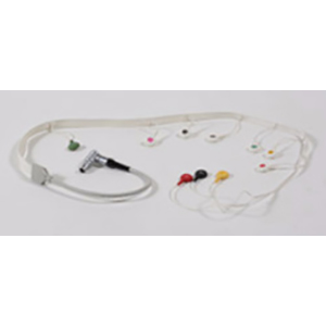 12-Channel Holter ECG Cable,Flat, IEC, 105 cm